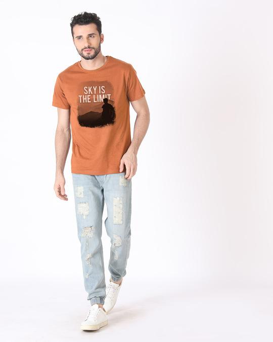 Shop Sky Is The Liimit Half Sleeve T-Shirt