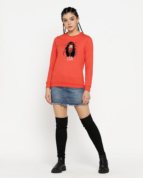 Shop Slay Girl Fleece Sweater Smoke Red