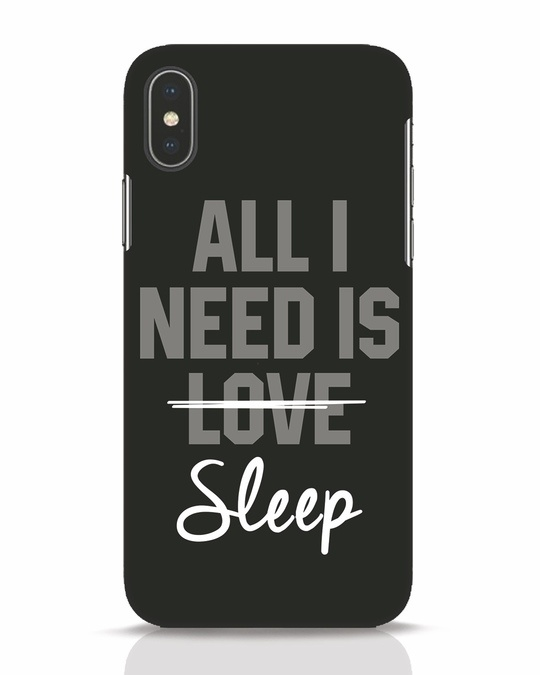 Shop Sleep iPhone X Mobile Cover-Front