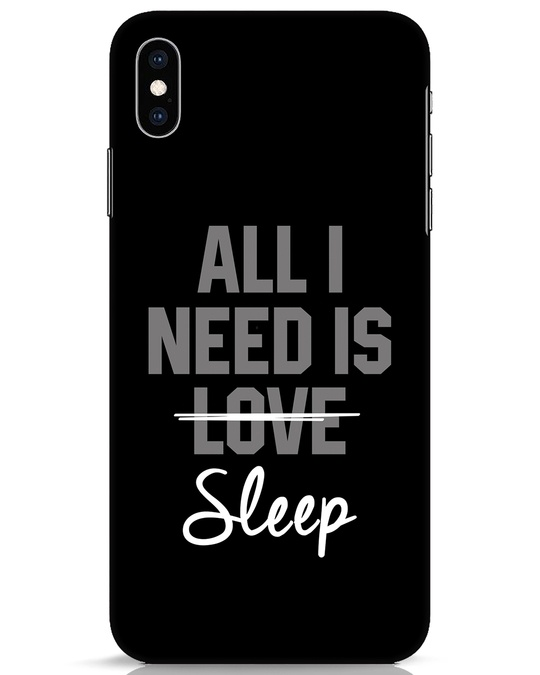 Shop Sleep iPhone XS Max Mobile Cover-Front