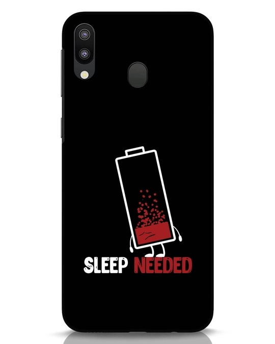 Shop Sleep Needed Samsung Galaxy M20 Mobile Cover-Front