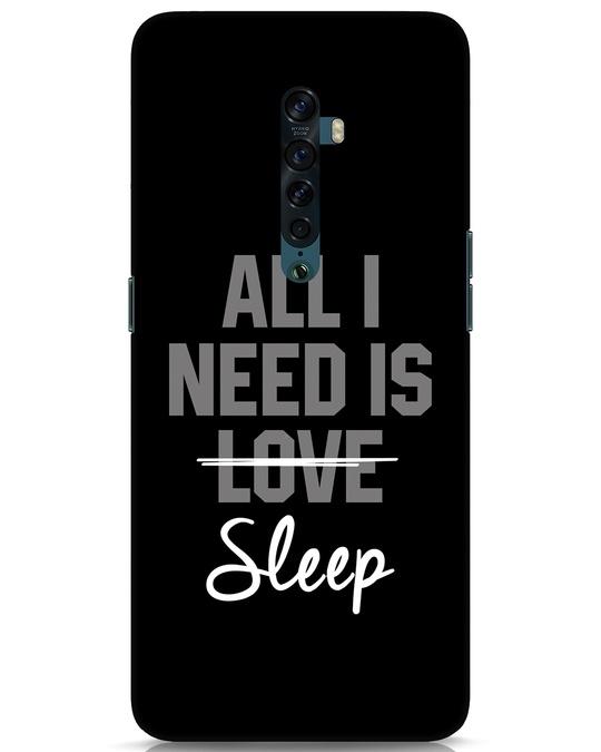 Shop Sleep Oppo Reno 2 Mobile Cover-Front