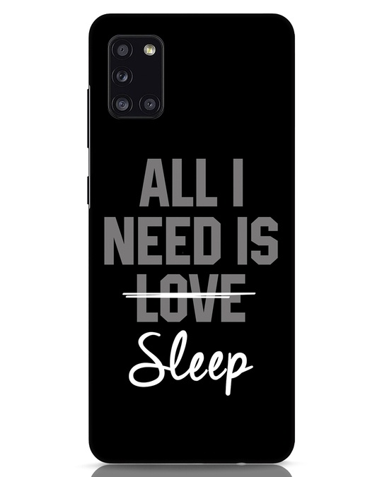 Shop Sleep Samsung Galaxy A31 Mobile Cover-Front