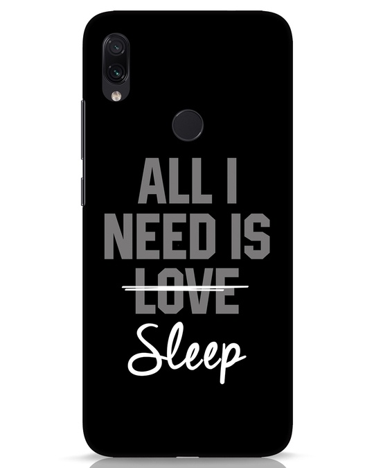 Shop Sleep Xiaomi Redmi Note 7s Mobile Cover-Front