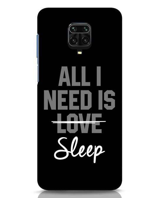 Shop Sleep Xiaomi Redmi Note 9 Pro Mobile Cover-Front