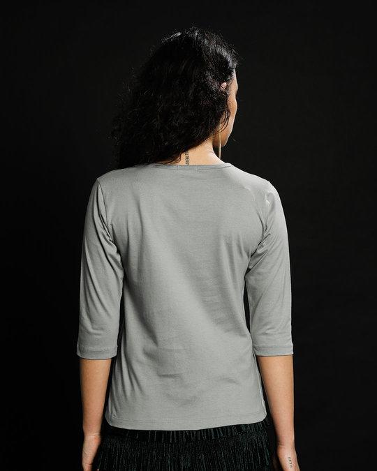 Shop Sleep Yay Round Neck 3/4th Sleeve T-Shirt-Back