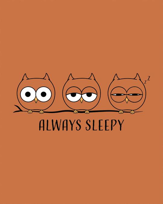 Shop Sleepy Always Owl Boyfriend T-Shirt-Full