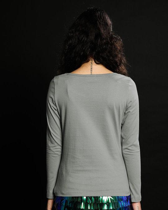 Shop Sleepy Always Owl Scoop Neck Full Sleeve T-Shirt-Back