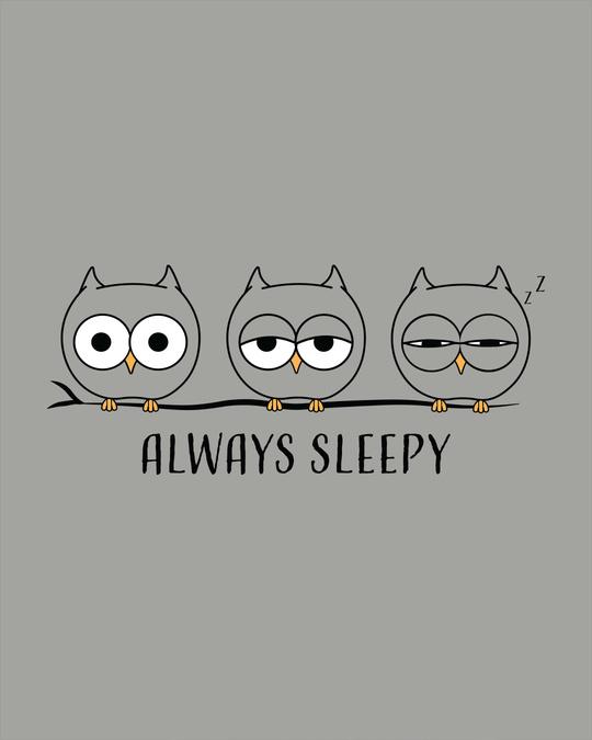 Shop Sleepy Always Owl Scoop Neck Full Sleeve T-Shirt
