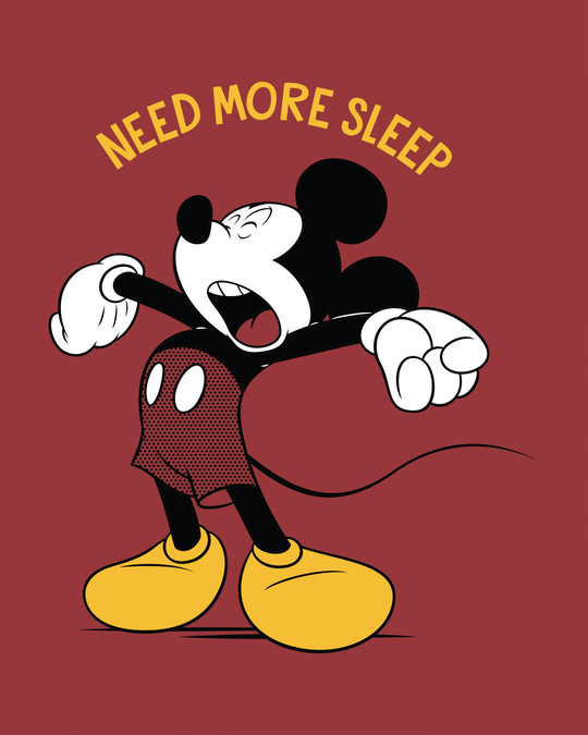 Shop Sleepy Mickey Boyfriend T-Shirt (DL)-Full