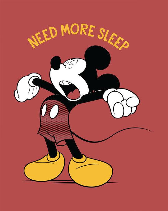 Shop Sleepy Mickey Full Sleeve T-Shirt (DL)