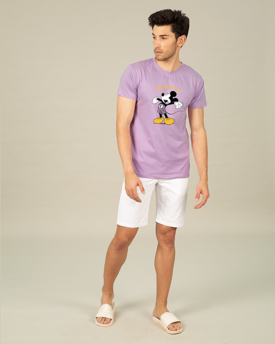 Shop Sleepy Mickey Half Sleeve T-Shirt (DL)
