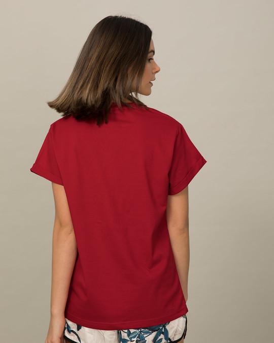 Shop Sleepy Mouse Boyfriend T-Shirt-Back