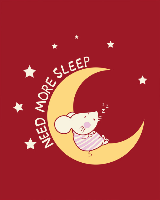 Shop Sleepy Mouse Boyfriend T-Shirt-Full