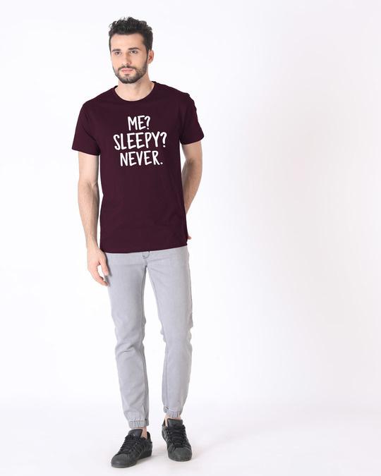Shop Sleepy Or Me Half Sleeve T-Shirt