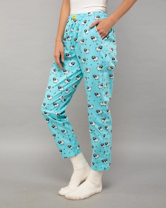 Shop Sleepy Sheep All Over Printed Pyjama-Back