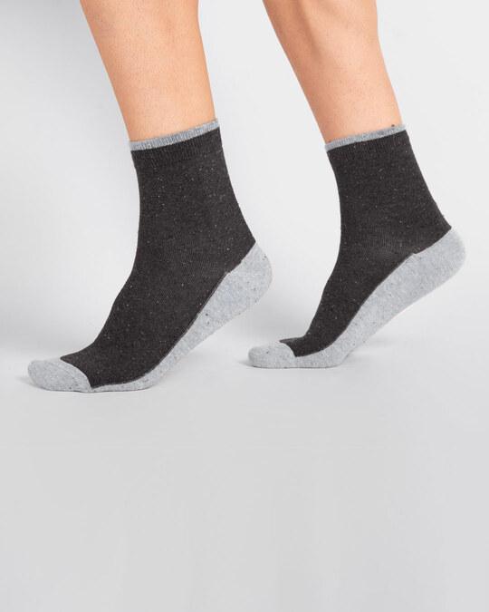 Shop Men's Slub Party Ankle Length Socks-Front