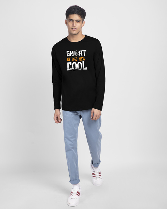 Shop Smart Is The New Cool Full Sleeve T-Shirt Black-Design