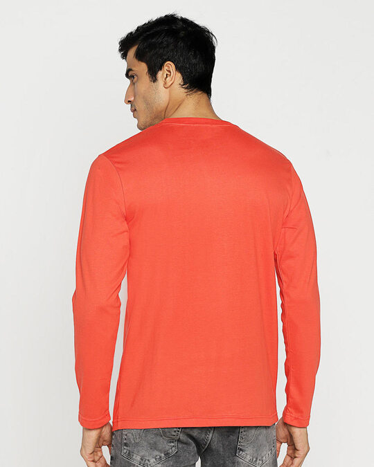 Shop Smart Is The New Cool Full Sleeve T-Shirt Smoke Red-Design