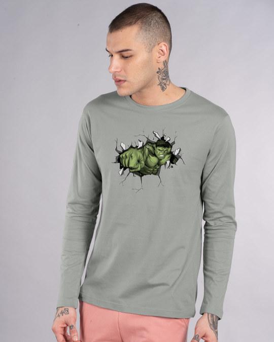 Shop Smash Hulk Full Sleeve T-Shirt (AVL)-Front