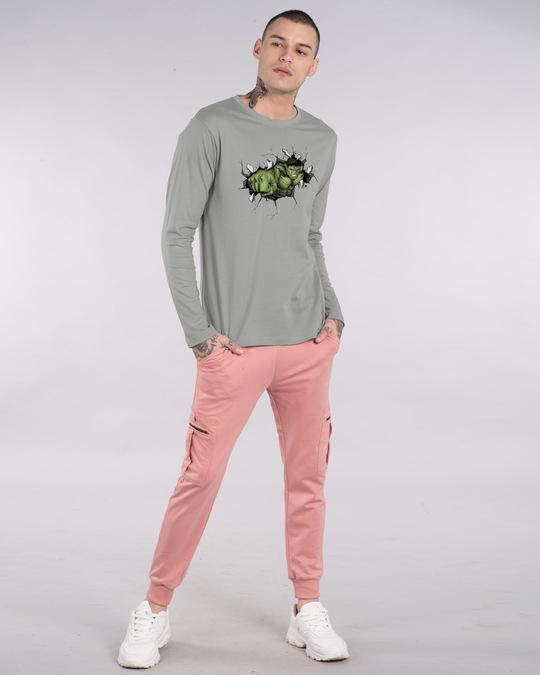 Shop Smash Hulk Full Sleeve T-Shirt (AVL)-Design