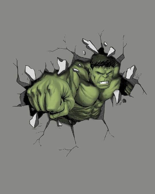 Shop Smash Hulk Half Sleeve T-Shirt (AVL)-Full