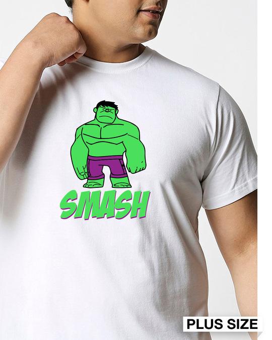 Shop Smash It (AVEGL) Half Sleeve Plus Size T-Shirt