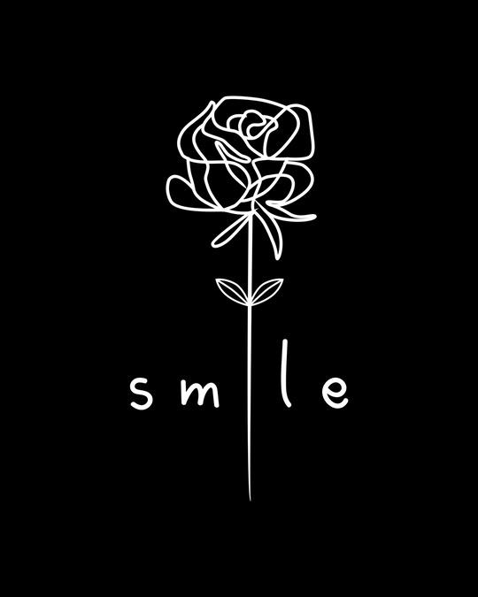 Shop Smile Flower Round Neck 3/4th Sleeve T-Shirt