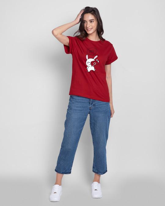 Shop Smile Please Boyfriend T-Shirt-Full
