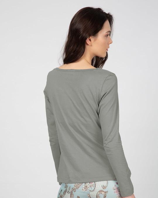 Shop Smile Please Scoop Neck Full Sleeve T-Shirt-Back