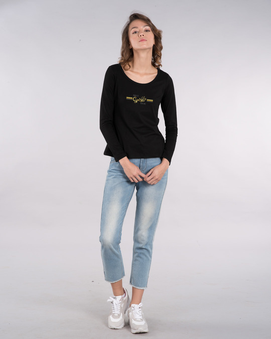 Shop Smile.sparkle.shine Scoop Neck Full Sleeve T-Shirt-Full