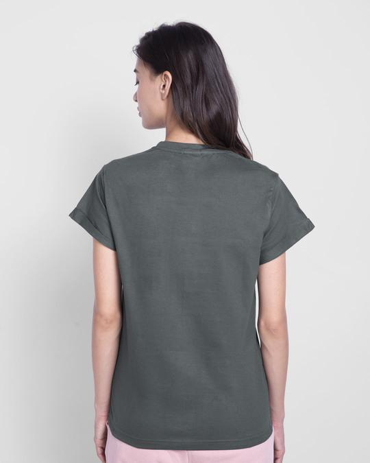Shop Smile Today - Penguin Boyfriend T-Shirt Nimbus Grey-Back