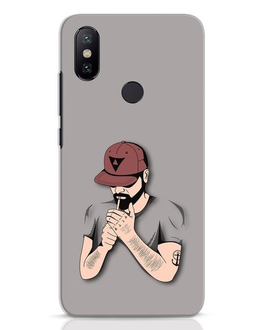 Shop Smoke Merge Xiaomi Mi A2 Mobile Cover-Front