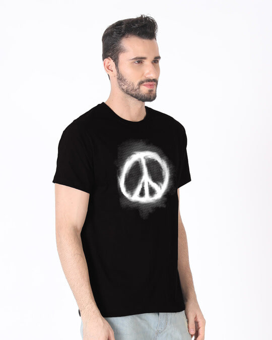 Shop Smoke Peace Half Sleeve T-Shirt-Design