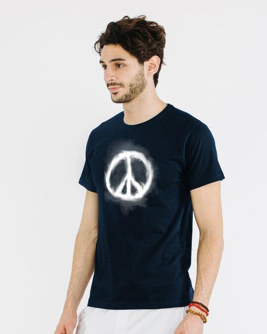 Shop Smoke Peace Half Sleeve T-Shirt-Full