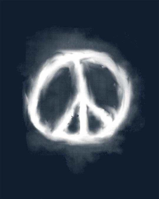Shop Smoke Peace Half Sleeve T-Shirt
