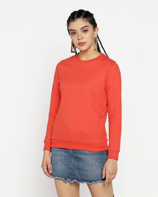 Shop Smoke Red Fleece Sweater-Back