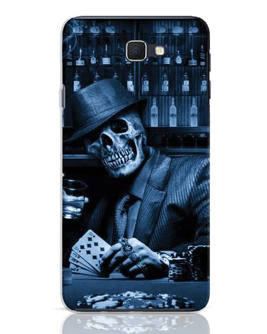 Shop Smoke Skull Samsung Galaxy J7 Prime Mobile Cover-Front
