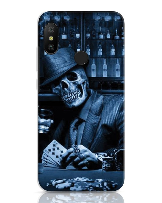 Shop Smoke Skull Xiaomi Redmi 6 Pro Mobile Cover-Front