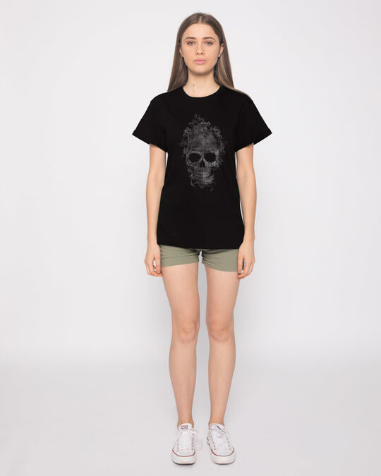 Shop Smokey Skull Boyfriend T-Shirt