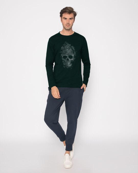 Shop Smokey Skull Full Sleeve T-Shirt