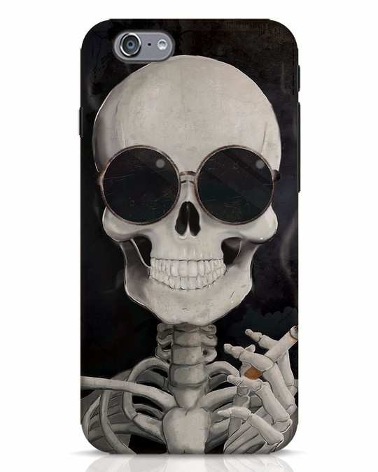 Shop Smoking Skull iPhone 6s Mobile Cover-Front