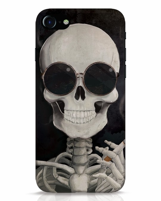 Shop Smoking Skull iPhone 8 Mobile Cover-Front