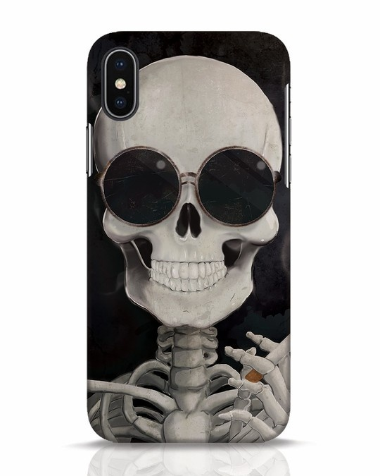 Shop Smoking Skull iPhone X Mobile Cover-Front