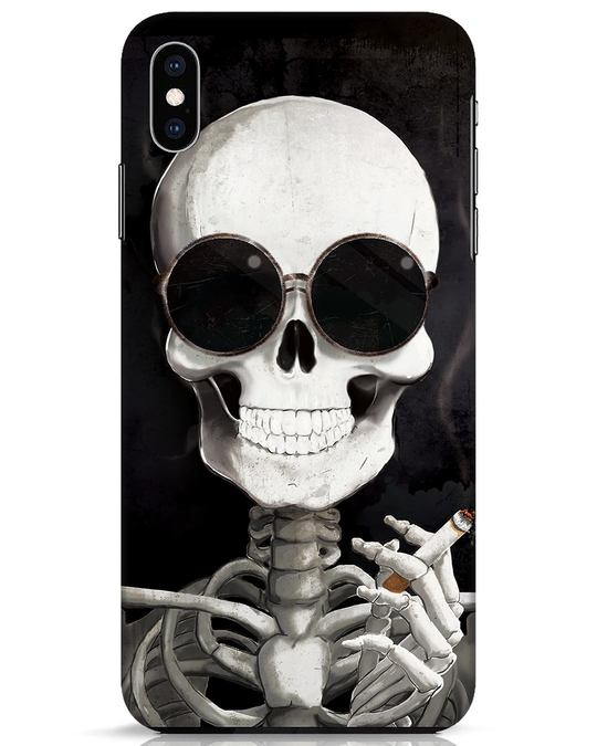 Shop Smoking Skull iPhone XS Max Mobile Cover-Front