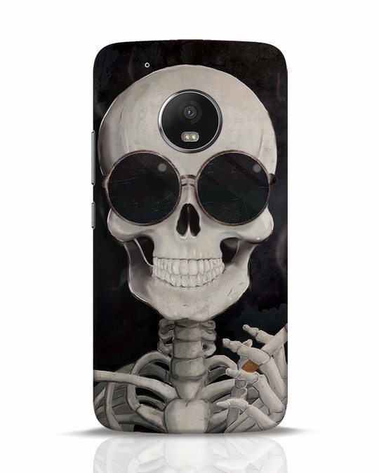 Shop Smoking Skull Moto G5 Plus Mobile Cover-Front