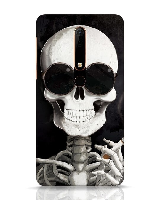 Shop Smoking Skull Nokia 6.1 Mobile Cover-Front