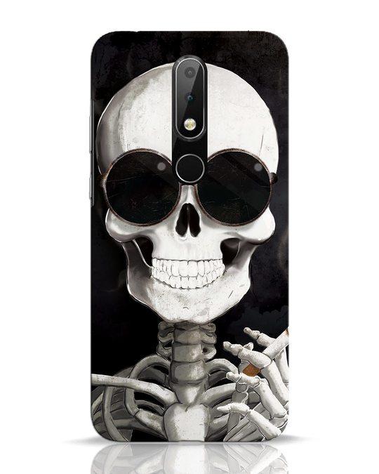Shop Smoking Skull Nokia 6.1 Plus Mobile Cover-Front