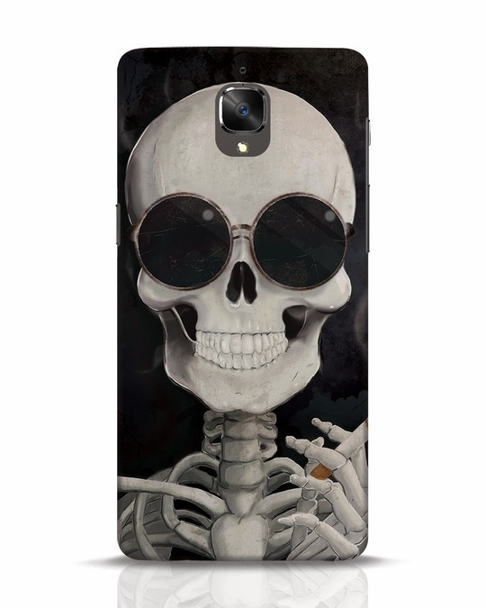 Shop Smoking Skull OnePlus 3T Mobile Cover-Front