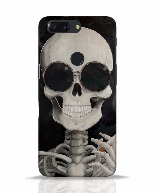 Shop Smoking Skull OnePlus 5T Mobile Cover-Front